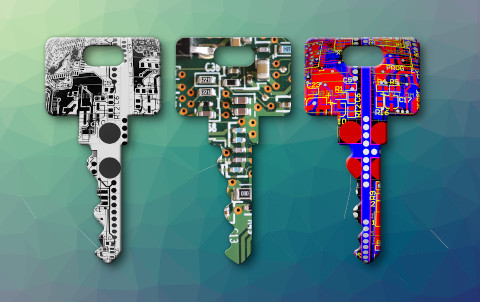 Gráfico representando chaves distintas